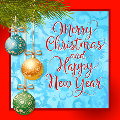 Merry Christmas and New Year Lettering