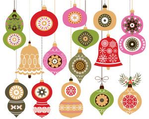 Christmas ornaments set, Christmas hanging decoration