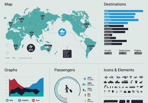 Minimalist Travel Infographic