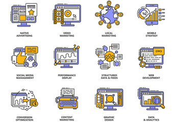 12 Digital Marketing Icons
