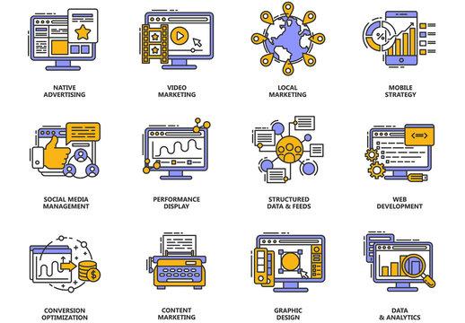 12 Digital Marketing Icons