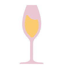 wine glass isolated icon vector illustration design