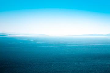 Calm Blue Sea Aerial View. Seascape.