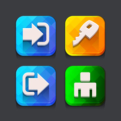 Login web icons collection