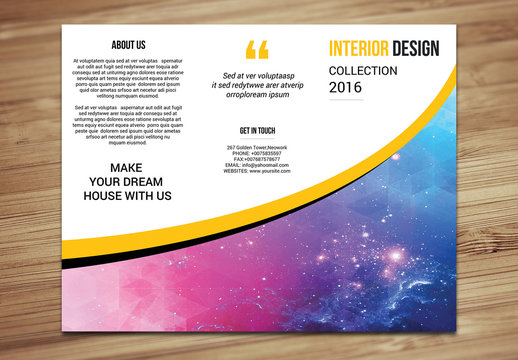 Interior Design Brochure Layout