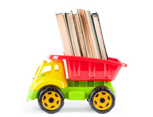 Children truck with stack books