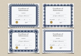 Certificates of Achievement Set