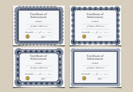 Certificates of Achievement Set