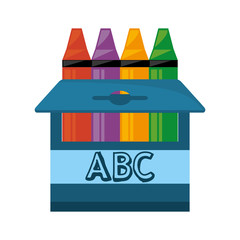 crayons box isolated icon vector illustration design