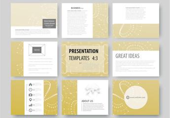 Presentation Slides with a Constellation Design Element 1