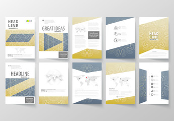 A4 Brochure Layout with a Constellation Design Element 4