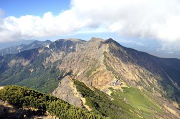 八ヶ岳:赤岳から見る横岳と硫黄岳