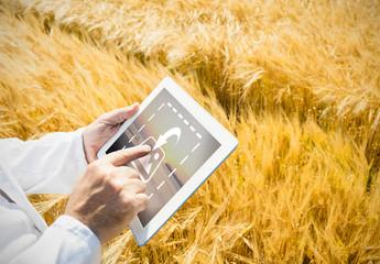 Tablet in Field Mockup