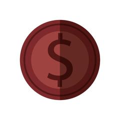 coin dollar isolated icon vector illustration design