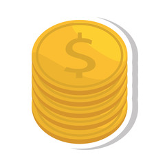 coin dollar isolated icon vector illustration design