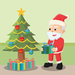 santa want to gift cristmas box