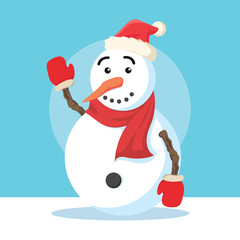 snowman character illustration design