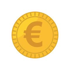 coin euro isolated icon vector illustration design