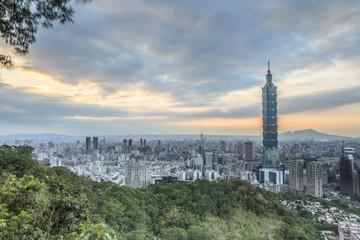 Foto auf Gartenposter Paris The sunrise sunset in Taipei
