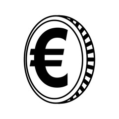 coin euro isolated icon vector illustration design
