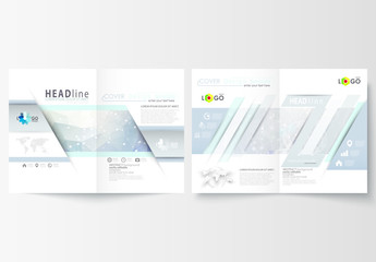 A4 Brochure Layout with a DNA Strand Design Element 1