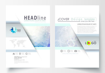 A4 Brochure Layout with a DNA Strand Design Element 3