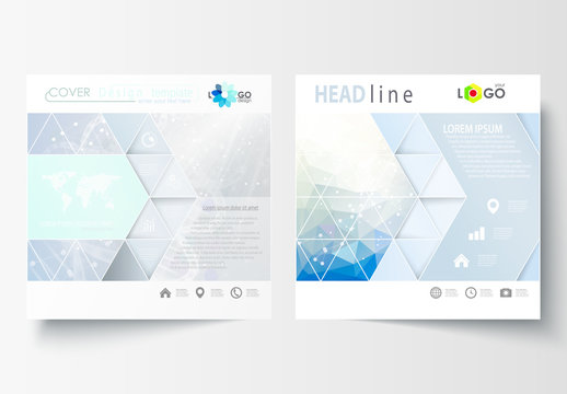 Square Brochure with a DNA Strand Design Element 5