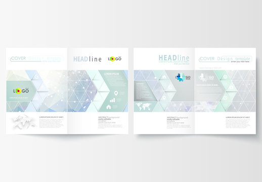 A4 Brochure Layout with a DNA Strand Design Element 2