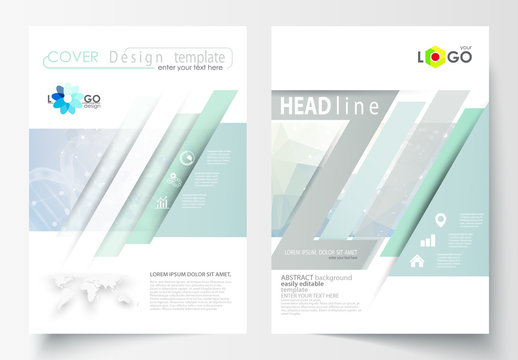 A4 Brochure Layout with a DNA Strand Design Element 4