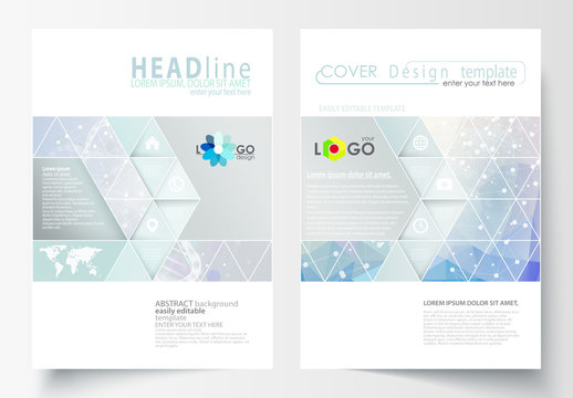 A4 Brochure Layout with a DNA Strand Design Element 5