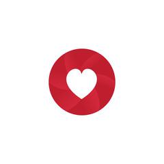love heart concept logo icon