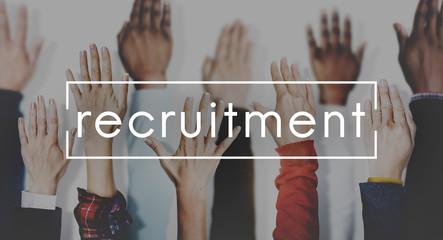 Recruitment Human Resources Employment Hiring Concept