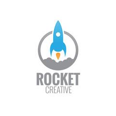 rocket concept  logo icon