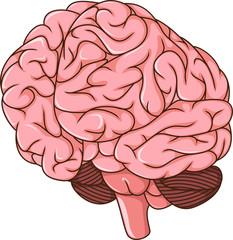 human brain clots cartoon
