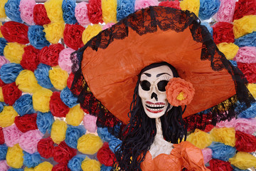 Traditional Mexican Catrina display
