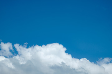 Blue sky with cloud background for backdrop background use