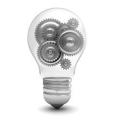 bulb with gears