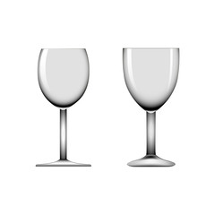 Realistic wineglass vector illustration
