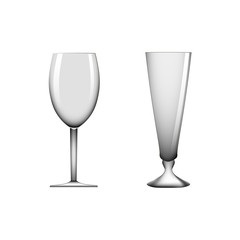 Realistic wineglass vector illustration