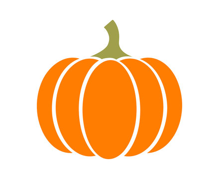 Pumpkin - squash for Halloween or Thanksgiving flat color icon for apps and websites