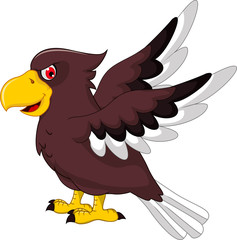 Cute Eagle cartoon flying