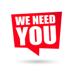 We Need You graphic