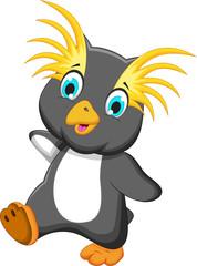 funny king penguin cartoon running