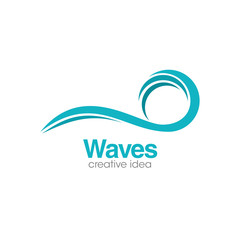 Abstract Wave Creative Concept Logo Design Template