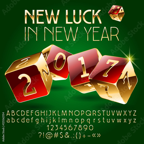 Vector casino happy new year greeting card with set of letters vector casino happy new year greeting card with set of letters symbols and numbers m4hsunfo