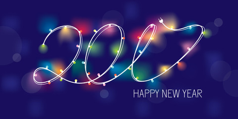 2017 new year greeting banner