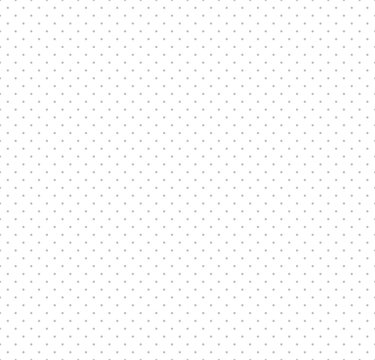 Vector Seamless Polka Dot pattern. Grey small polka dot texture on white background.
