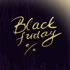 Black friday lettering on abstract artistic background