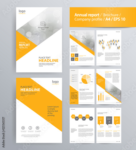 Quot Page Layout For Company Profile Annual Report Brochure