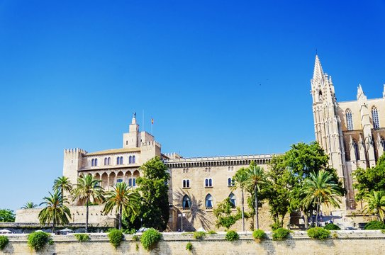 La Almudaina Royal Palace in Palma, Spain
